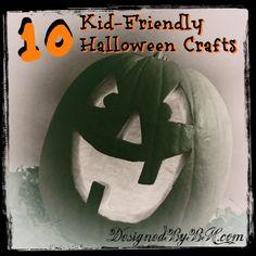 10 Easy & Kid-Friendly Halloween Crafts - DesignedByBH.com - TITLE
