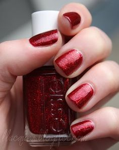 Essie - Ruby Slippers -- Perfect for Valentine's Day or Christmas!