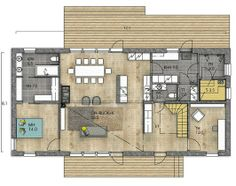 Ground Floor, My Dream Home, Home Interior Design, Future House, House Plans, Sweet Home, Floor Plans, 1, Room Decor