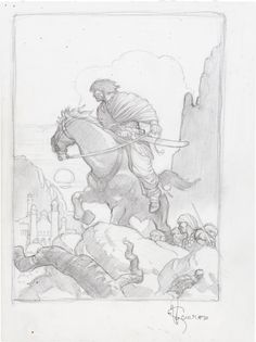 Mark Schultz - Robert E. Howard's Complete Conan of Cimmeria Preliminary Slipcase Illustration (Wandering Star, 2002). One of the great craftsmen of the modern age, Mark Schultz specializes in fantasy and heroic subject matter, such as this sublime pencil illustration.
