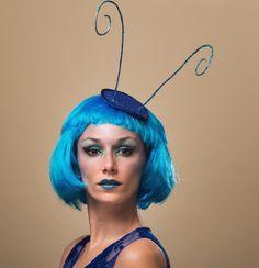 ausgefallenes Insekten Kostüm in Blau für Damen