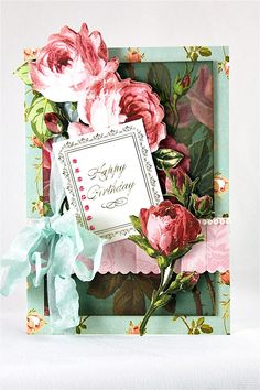 Created using one of Anna Griffin's card making kits.