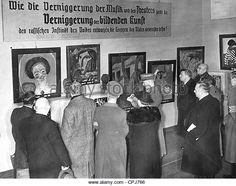 Opening of the exhibition 'Degenerate Art' in Berlin, 1938 - Stock Image