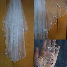 2T blanc ivoire mariage veil comb elbow halloween déguisement robe enterrement vie jeune fille soirée