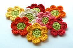 Crochet Flowers by AnnieDesign, via Flickr