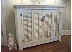 shutter table.....a distressed black one custom made with matching wall mirror for entry way......yes please!!!!!