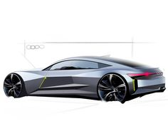 Audi Sketch on Behance Transportation Technology, Transportation Design, Car Design Sketch, Car Sketch, Supercars, Exterior Rendering, Audi Rs5, Industrial Design Sketch, Classic Sports Cars