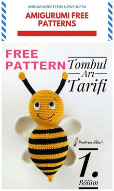 We bring you the latest recipes about amigurumi. In this article, amigurumi fat bee free pattern is waiting for you. Crochet Amigurumi Free Patterns, Crochet Dolls, Free Crochet, Plush Pattern, Dog Pattern, Double Crochet Decrease, Bee Free, Knitted Animals, Crochet Projects