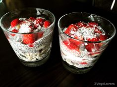 2 VegeLovers: CHIA PUDDING WITH PUFFED RICE AND FRUIT