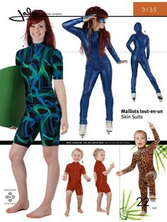 Jalie 3135 - Skinsuit Pattern for Children and Adults