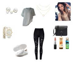 """""""Don't care"""" by violinstar ❤ liked on Polyvore featuring Puma, Allurez, MAC Cosmetics and Charlotte Russe"""