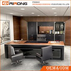 Source Best price modern office desk / office furniture executive leather table on m.alibaba.com Office Cabin Design, Small Office Design, Cozy Home Office, Office Furniture Design, Home Office Desks, Office Interior Design, Office Interiors, Office Designs, Modern Office Table