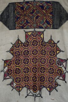 Moroccan emb detail  17th century embroidered panel