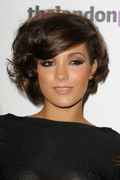 Cute Short Hair Styles for Women 2014... her make up though!!! :O per-fect