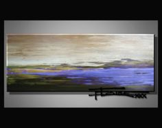 Abstract, Canvas Painting, Wall Art, FIELD OF LAVENDER Available in 2 sizes, 60 inch Ready to Hang by ELOISExxx