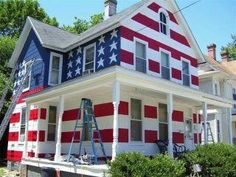 This guy was told by his Homeowners Association that he couldnt fly the American flag in his yard. So....