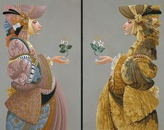 "TWO SISTERS By James C. Christensen :: Limited Edition Print, 11 5/8""w x 20""h, $325"