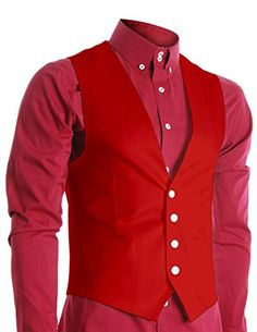FLATSEVEN Mens Slim Fit Business Casual Premium Vest Red, Mens M FLATSEVEN http://www.amazon.com/dp/B00UQKLNE6/ref=cm_sw_r_pi_dp_3Aj5wb1SHWE1B