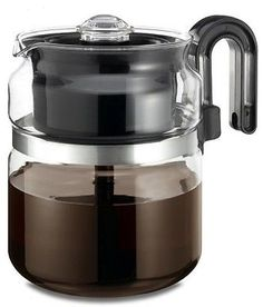 Glass Stove Top Coffee Pot 8 Cup Percolator Stovetop Maker Restaurant Camping