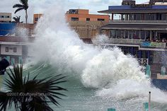 More than million homes along the Gulf and Atlantic coasts are at great risk of being damaged by a hurricane, three times the number located in federally defined flood zones, according to a report released Tuesday. Hurricane Wilma, Storm Pictures, Recurring Dreams, Storm Surge, Dreams And Visions, Flood Zone, Strong Wind, Coastal Homes, Ocean Waves