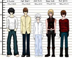 Death Note - Height Compare