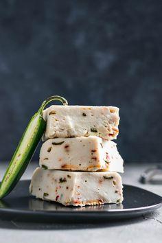 Vegan Roasted Jalapeño Cheese • The Curious Chickpea