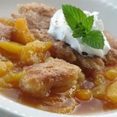 Southern Peach Cobbler--I love this recipe but I like a few more peaches in it