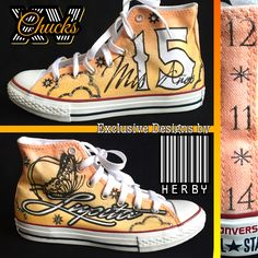 """Mariposa"" Quinceañera Shoes,Mis quince Años, custom converse, airbrush shoes art by Herby. At Airbrush Nation Studio in Los Angeles Call today 323.456. 5243"