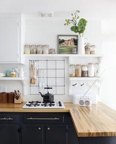 Znalezione obrazy dla zapytania kitchen open shelf