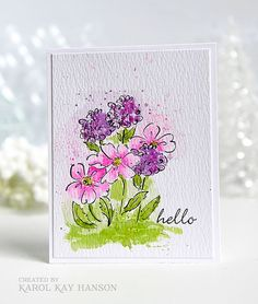 water colored card by Karol Kay using some very old SU stamps ...