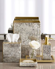 """Waylande Gregory """"Mosaic Metallic"""" Vanity Accessories"""