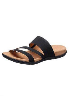 Gabor Black Flat Sandals