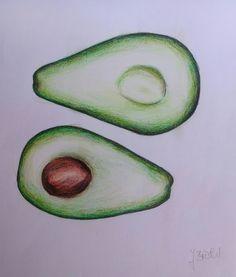 Avokado - Buntstiftzeichnug für Anfänger