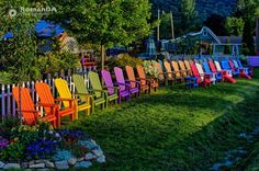 Colorful Chairs  #chairs #colorful #mountains #goldenhour #rainbow  --- some cool looking chairs --  (C) 2016 RomanDA Photography - All rights reserved