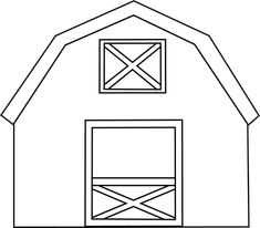 Black and White Barn Clip Art - Black and White Barn Image Quiet Book Patterns, Barn Quilt Patterns, Farm Animal Coloring Pages, Farm Images, Barn Animals, Barn Wood Crafts, Crafts For Seniors, White Barn, Black White
