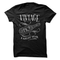 Vintage 1969 a Great Year T-Shirts, Hoodies. GET IT ==► https://www.sunfrog.com/Birth-Years/Vintage-1969-a-Great-Year.html?id=41382