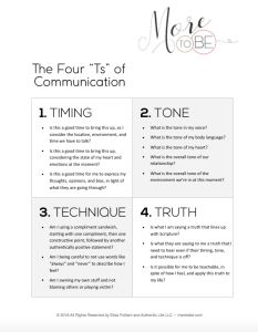 Four Simple Steps for Highly Effective Communication - More to Be