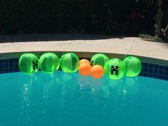 Beach ball creepers for a pool party!