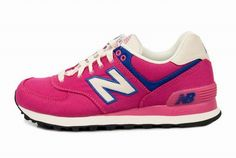 Joes New Balance 574 WL574RUP Pink Blue White Rugger Womens Shoes