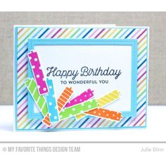 My Favorite Things Paper Pack, Sweet Celebration - 815765019989 Birthday Cards, Happy Birthday, Birthday Countdown, Birthday Wishes, Diy Crafts For Girls, Stitch Lines, Mft Stamps, Card Tags, Card Kit