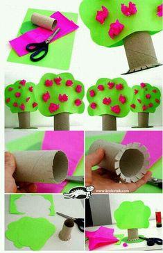 Toilet Paper Roll Crafts - Treecraft idea for kids | Crafts and Worksheets for Preschool,Toddler and Kindergarten