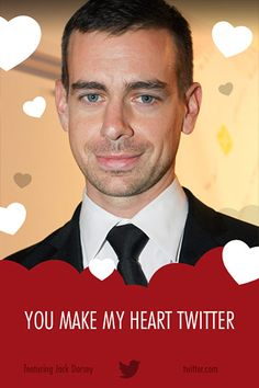 Love these! #Startup #Valentine's: Jack Dorsey: you make our #hearts Twitter too!