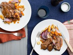 Get Pot Roast with Roasted Vegetables Recipe from Food Network