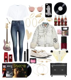 """""""🎸📻Brooklyn baby🌇🎷"""" by nancymuse ❤ liked on Polyvore featuring Casetify, Gucci, T By Alexander Wang, Ray-Ban, Loren Stewart, La Perla, Crate and Barrel, NYX, NARS Cosmetics and peripera"""