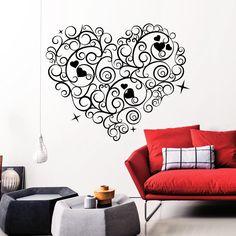 Black And White Leopard Print Heart Hearts Zebra Print Black - Inspiring vinyl wall decals abstract