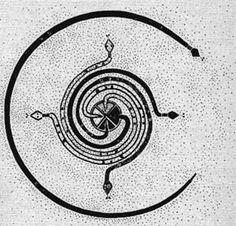 Kundalini Snake Goddess from the year of the Snake. Kundalini Snake Goddess from the year of the Snake. Native Art, Native American Art, Kundalini Tattoo, Snake Goddess, Year Of The Snake, Sacred Symbols, Pagan Symbols, Spiritual Symbols, Sand Painting