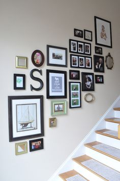Hello! I'm here to share the photo gallery wall my mother in law helped me put together last week. I have to say that using this metho...