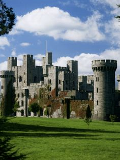 Penrhyn Castle, Gwynedd, North Wales, in the form of Norman castle. Castle Ruins, Castle House, Medieval Castle, Welsh Castles, Castles In Wales, Scottish Castles, Wales Castle, Camelot Castle, Beautiful Castles