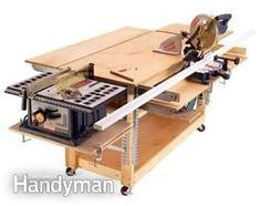 Garage organization ideas - mobile,versatile workbench