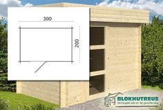 - Blokhut Novalie - Blokhutten 28 mm - Tuindeco - Blokhutten en Tuinhuizen - verkrijgbaar bij